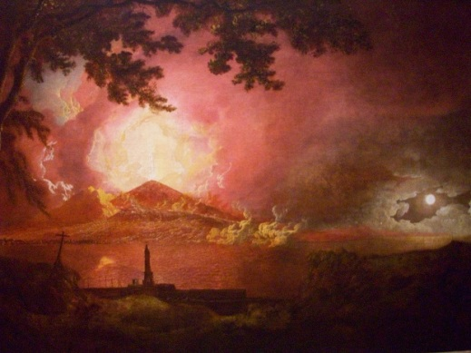 Vesuvius in Eruption, by Joseph Wright of Derby