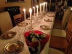 Our New Year's dinner table